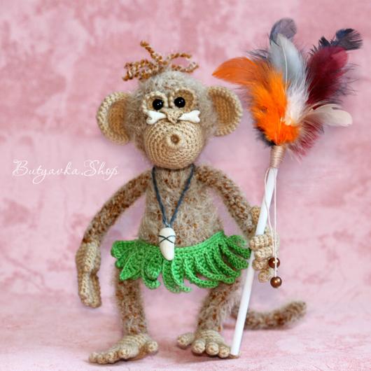 Обезьянка вождь папуасов (оригинальный подарок - игрушка)