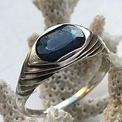 Украшения handmade. Livemaster - original item Women`s ring with pure VS Blue Sapphire, 925 silver. Handmade.