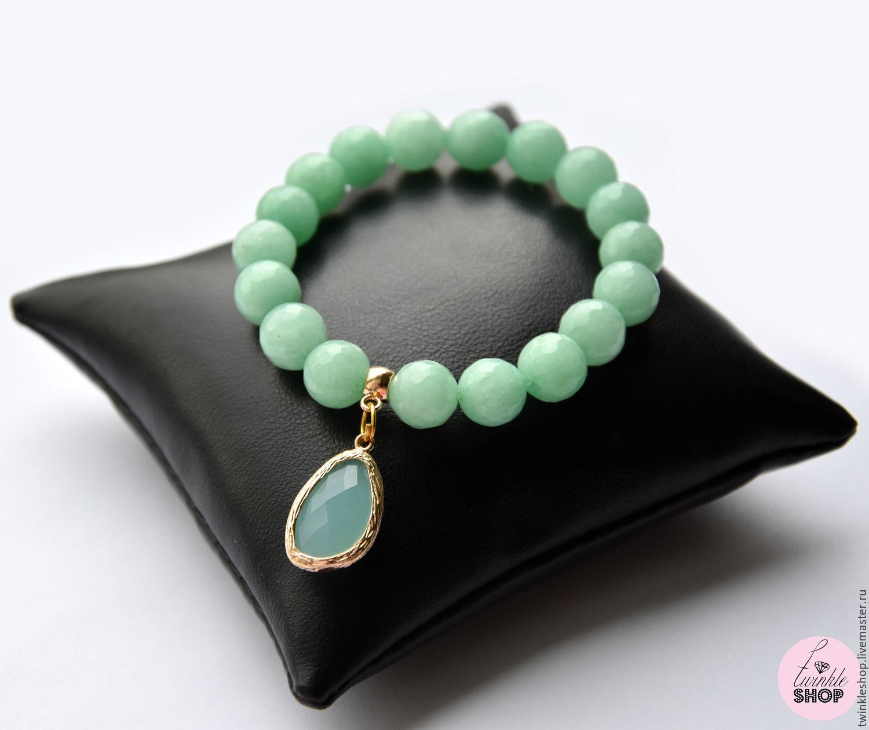 Bracelet agate Tiffany, Bead bracelet, Moscow,  Фото №1