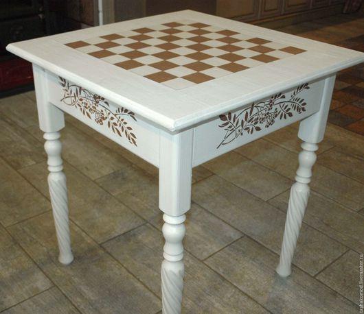 Мебель ручной работы. Ярмарка Мастеров - ручная работа. Купить Шахматный стол для комнаты девочки. Handmade. Мебель для детей, дерево