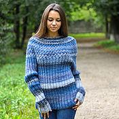 """Одежда ручной работы. Ярмарка Мастеров - ручная работа свитер """"Морская акварель"""". Handmade."""