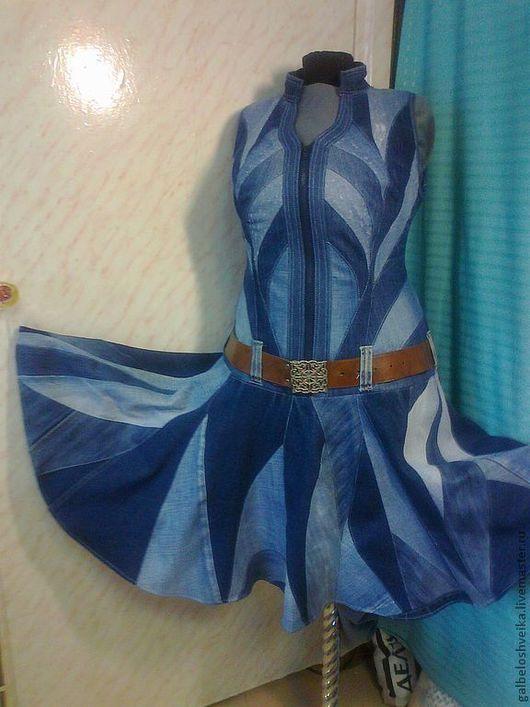 """Платья ручной работы. Ярмарка Мастеров - ручная работа. Купить Сарафан """" Виктория"""". Handmade. Синий, джинсовая ткань"""