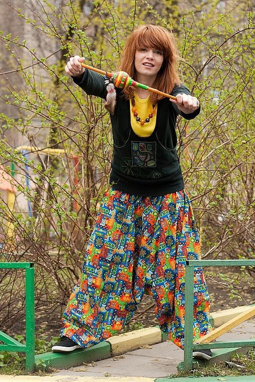 Ethnic Clothing handmade. Livemaster - handmade. Buy Punching 'Shamanic'.Punching, harem pants, cotton
