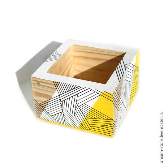 Детская ручной работы. Ярмарка Мастеров - ручная работа. Купить Коробочка из дерева Лайта. Коробка ручной работы.. Handmade. Желтый