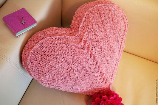 """Текстиль, ковры ручной работы. Ярмарка Мастеров - ручная работа. Купить Декоративная подушка """"Трепетное сердце"""". Handmade. Подушка, подарок"""
