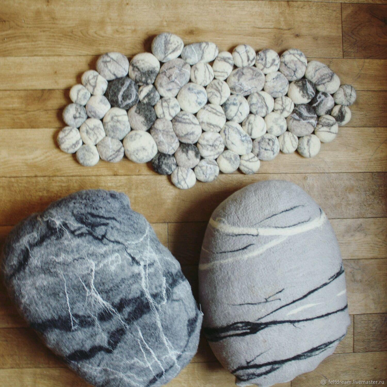 Войлочный камень. Камень подушка, Текстиль ковры, Смоленск, Фото №1