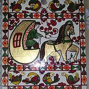 Русский стиль handmade. Livemaster - original item Cutting Board painted