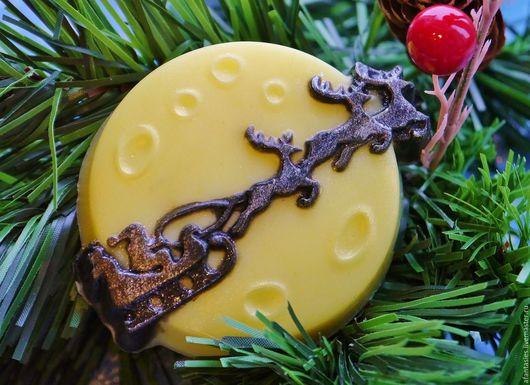 """Мыло ручной работы. Ярмарка Мастеров - ручная работа. Купить Новогоднее мыло ручной работы """"Лунная упряжка"""". Handmade."""