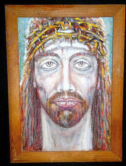 Иконы ручной работы. Ярмарка Мастеров - ручная работа. Купить картина Бог есть любовь. Handmade. Любовь, христос воскрес