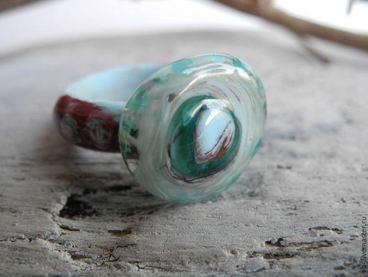 Кольца ручной работы. Ярмарка Мастеров - ручная работа. Купить Кольцо из муранского стекла ручной работы. Handmade. Разноцветный