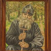Картины и панно ручной работы. Ярмарка Мастеров - ручная работа Оптинский старец Исакий. Handmade.
