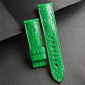 Украшения handmade. Livemaster - original item Crocodile Leather Watchband (04). Handmade.