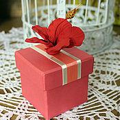 """Сувениры и подарки ручной работы. Ярмарка Мастеров - ручная работа Коробочка для подарка """"Гибискус"""". Handmade."""