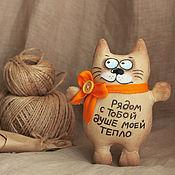 Мягкие игрушки ручной работы. Ярмарка Мастеров - ручная работа Тёплый Кот (кофейные игрушки). Handmade.