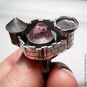 """Перстень ручной работы. Ярмарка Мастеров - ручная работа """"Старый замок"""" --перстень с аметистом. Handmade."""