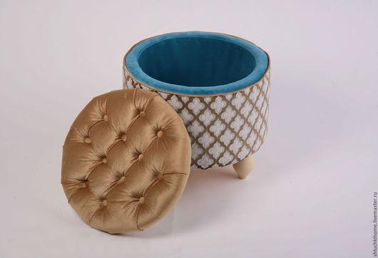 """Мебель ручной работы. Ярмарка Мастеров - ручная работа. Купить """"Ларец тайн""""(пуфик). Handmade. Кремовый, красивый пуфик, подарок, дерево"""
