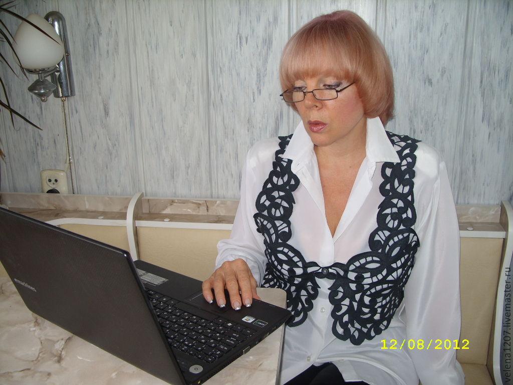 """Жилет вышитый ришелье""""Вышивка для офиса"""", Vests, Shahty,  Фото №1"""