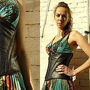 Одежда ручной работы. Ярмарка Мастеров - ручная работа корсет женский из кожи питона, утягивающий. Handmade.