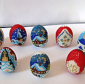 Сувениры и подарки ручной работы. Ярмарка Мастеров - ручная работа яйцо пасхальное из бисера. Handmade.