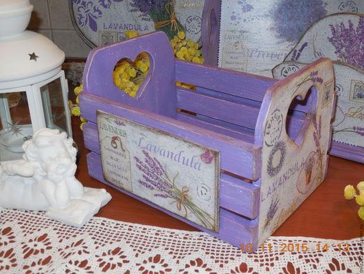 Корзины, коробы ручной работы. Ярмарка Мастеров - ручная работа. Купить Мой Прованс  ящик для пакетиков со специями. Handmade.