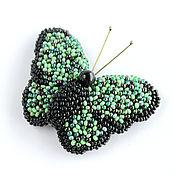 Украшения ручной работы. Ярмарка Мастеров - ручная работа Брошь бабочка из бисера. Handmade.