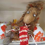Куклы и игрушки ручной работы. Ярмарка Мастеров - ручная работа Нафаня - ааа !!! из мультика Кузя, чердачная кофейная игрушка. Handmade.