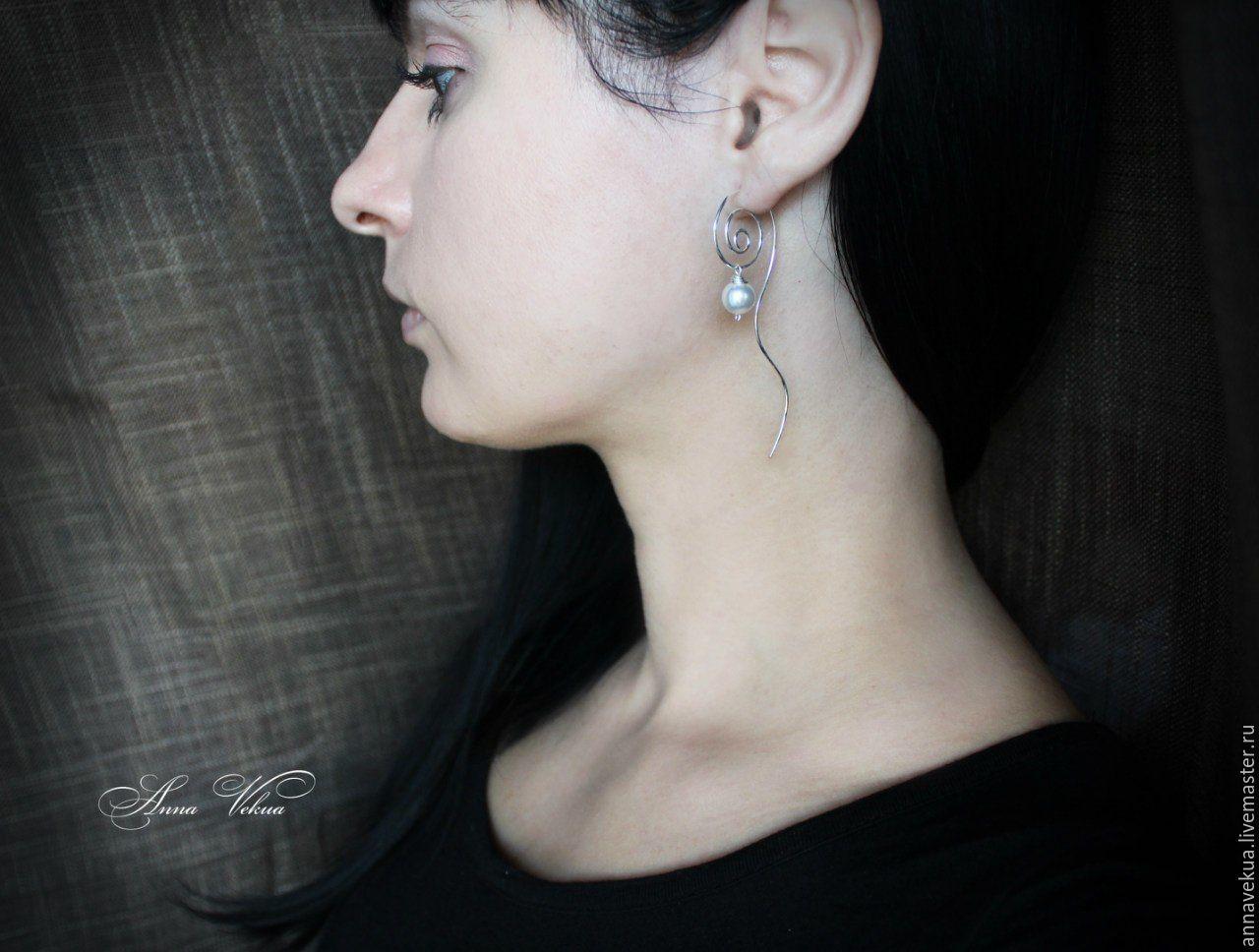 Earrings 'Serebro925-spiral', Earrings, St. Petersburg,  Фото №1