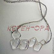Украшения handmade. Livemaster - original item pendant Ice fantasy, transparent, the author`s jewelry. Handmade.