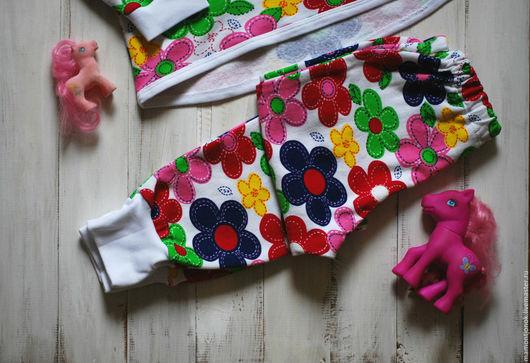 """Одежда для девочек, ручной работы. Ярмарка Мастеров - ручная работа. Купить Пижама тёплая для девочки """"Отчего на голове не растут цветочки?"""". Handmade."""
