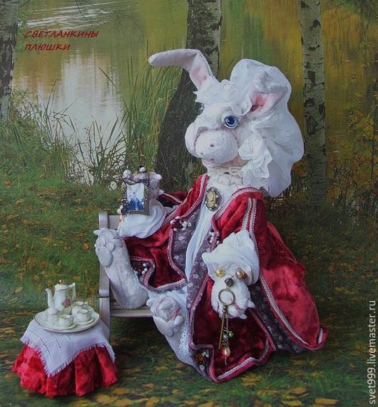 """Мишки Тедди ручной работы. Ярмарка Мастеров - ручная работа. Купить плюшевый белый кролик """"Мисс Мэри-Джейн - подружка кролика Мартина"""". Handmade."""