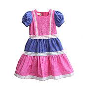 Одежда детская handmade. Livemaster - original item Elegant children`s dress with flounces, height 116-122. Handmade.