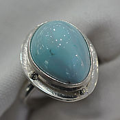 Украшения handmade. Livemaster - original item Ring with turquoise Heaven. Handmade.