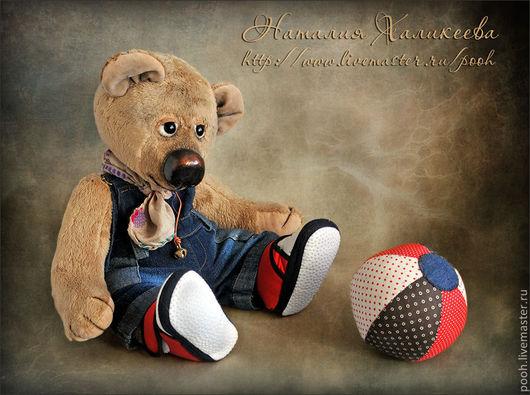 """Мишки Тедди ручной работы. Ярмарка Мастеров - ручная работа. Купить Авторский Мишка """"Сережа"""". Handmade. Бежевый, интерьерный медведь"""