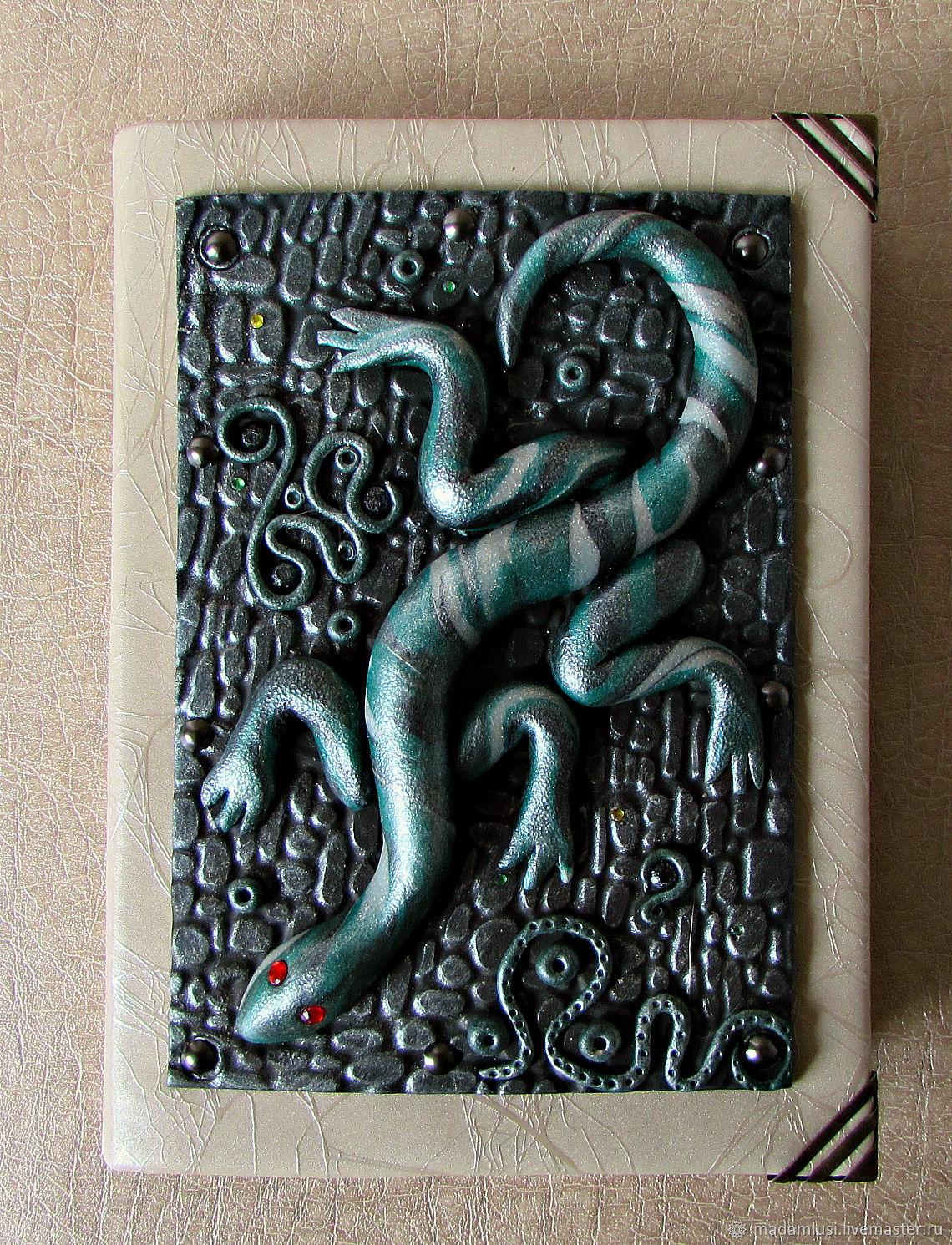 notebooks handmade. Notepad from scratch. Fair Masters - handmade. Buy Notebook handmade Lizard. Handmade.  decor polymer clay.