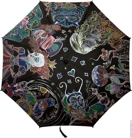 Зонты ручной работы. Ярмарка Мастеров - ручная работа. Купить Алиса в стране чудес. Handmade. Алиса в стране чудес, алиса