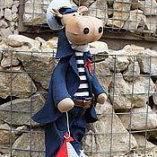 Куклы и игрушки ручной работы. Ярмарка Мастеров - ручная работа Бегемот -моряк. Handmade.