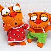 Куклы и игрушки handmade. Livemaster - original item Everything is clear? Soft toys plush red cats Vasya Lozhkina. Handmade.