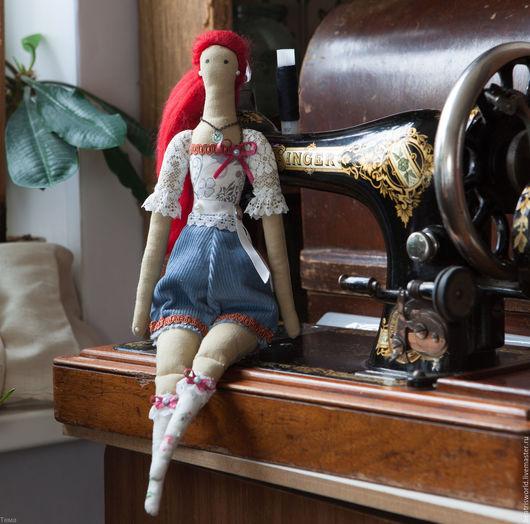Куклы Тильды ручной работы. Ярмарка Мастеров - ручная работа. Купить Тильда в стиле стимпанк. Handmade. Белый, вискоза