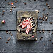 Канцелярские товары handmade. Livemaster - original item Notebook with dragon. Handmade.
