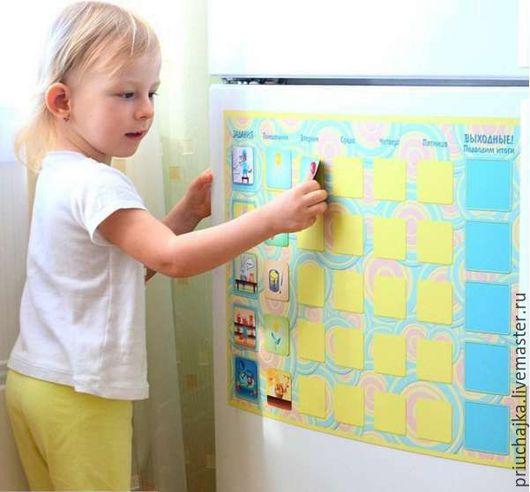 Развивающие игрушки ручной работы. Ярмарка Мастеров - ручная работа. Купить Доска мотивации Приучай-ка! для размещения на холодильник. Handmade.