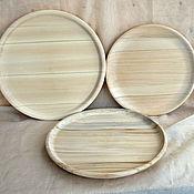 Материалы для творчества ручной работы. Ярмарка Мастеров - ручная работа Тарелки деревянные. Handmade.