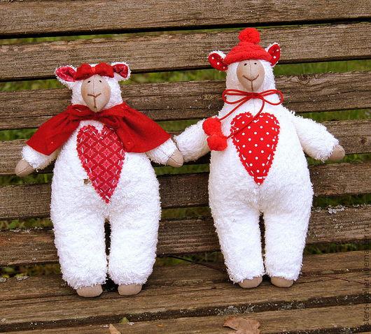Куклы Тильды ручной работы. Ярмарка Мастеров - ручная работа. Купить текстильная кукла Тильда - овцы - Шерочка с Машерочкой. Handmade.