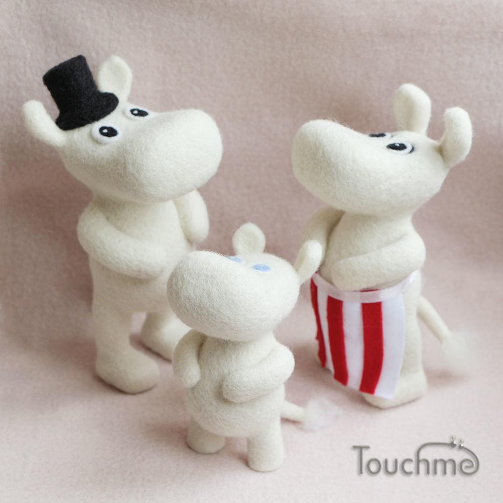 Муми-семейство, 3 персонажа, Мягкие игрушки, Электросталь,  Фото №1