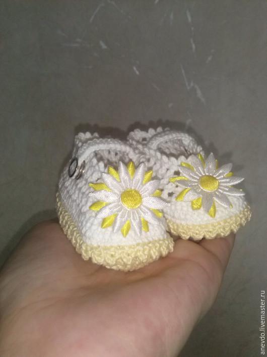 Детская обувь ручной работы. Ярмарка Мастеров - ручная работа. Купить пинетки туфельки. Handmade. Пинетки, башмачки, красивые пинетки