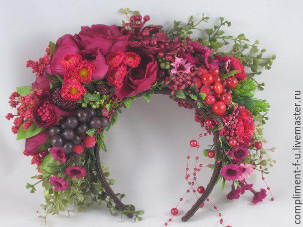 Как сделать украинский венок из цветов