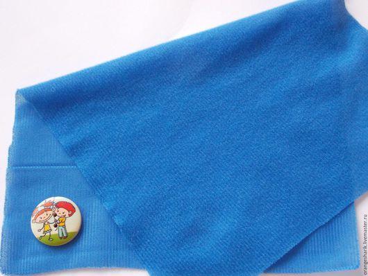 Другие виды рукоделия ручной работы. Ярмарка Мастеров - ручная работа. Купить Велкроткань неклеевая Синяя. Handmade. Тёмно-синий