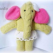 """Куклы и игрушки ручной работы. Ярмарка Мастеров - ручная работа Вязаная игрушка """"Слоненок Мэри"""". Handmade."""