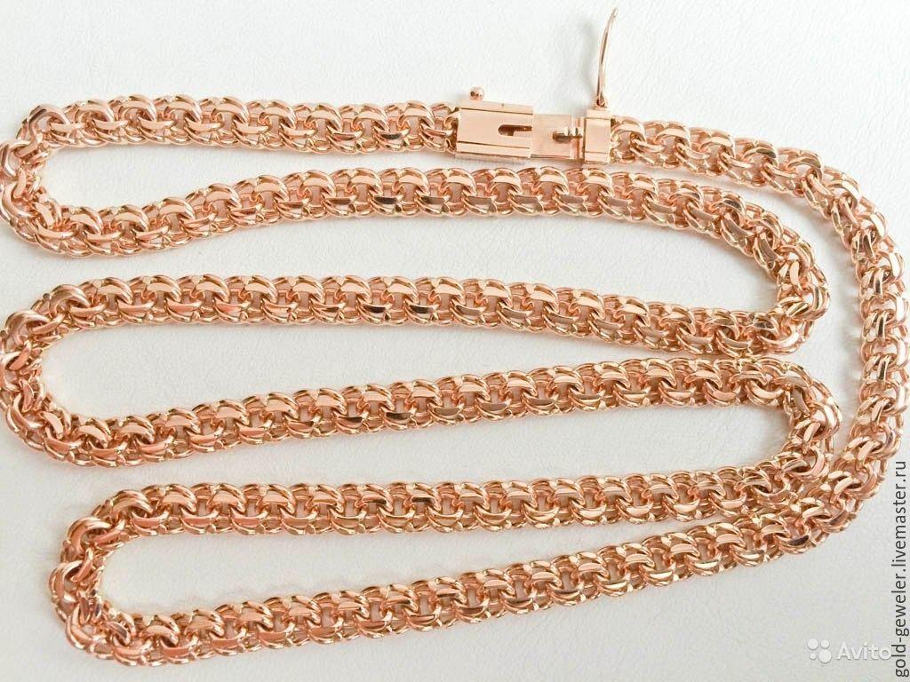 52756b0731b Золотая цепочка Бисмарк ручной работы – купить в интернет-магазине ...