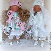 Куклы и игрушки ручной работы. Ярмарка Мастеров - ручная работа РОЗОЧКА и БЕЛЯНОЧКА интерьерные куколки. Handmade.