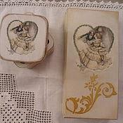 """Подарки к праздникам ручной работы. Ярмарка Мастеров - ручная работа Свадебный набор """" Сердечный поцелуй"""". Handmade."""